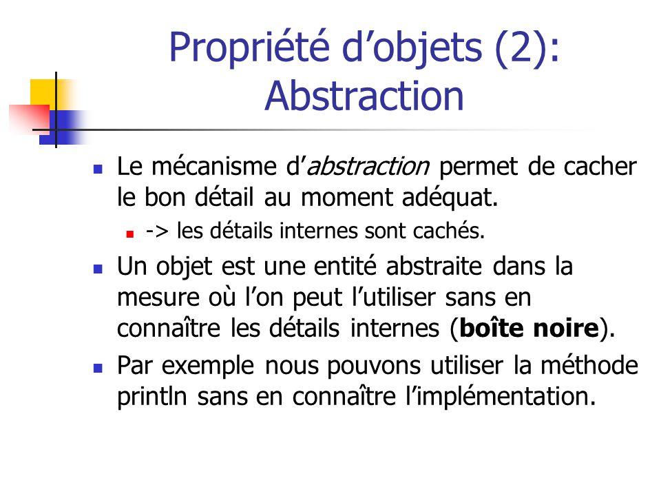 Propriété d'objets (2): Abstraction