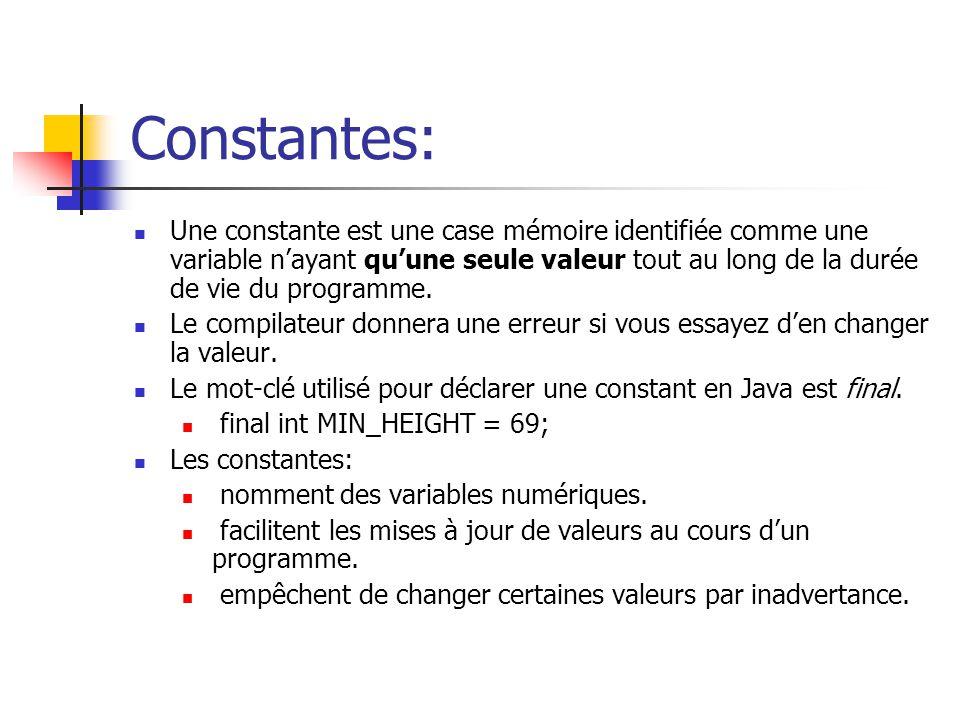 Constantes: