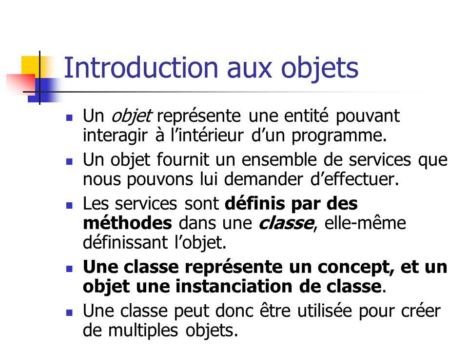 Introduction aux objets