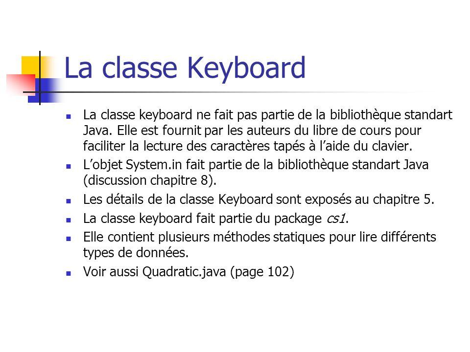 La classe Keyboard