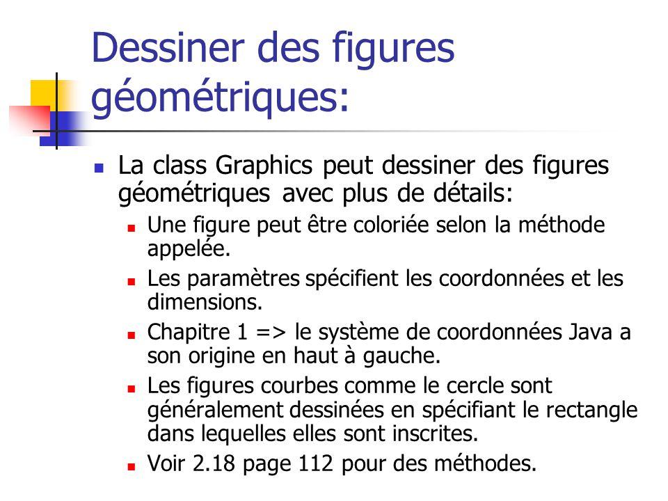 Dessiner des figures géométriques: