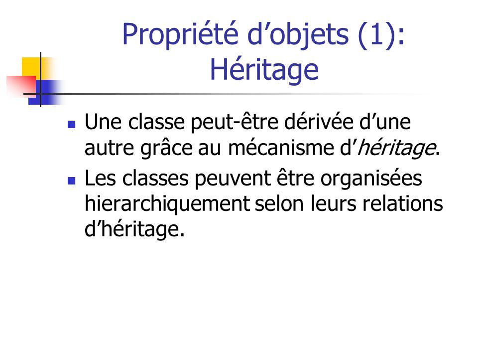 Propriété d'objets (1): Héritage