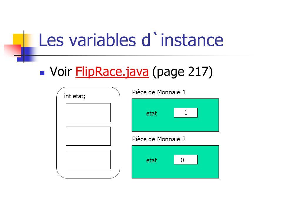 Les variables d`instance