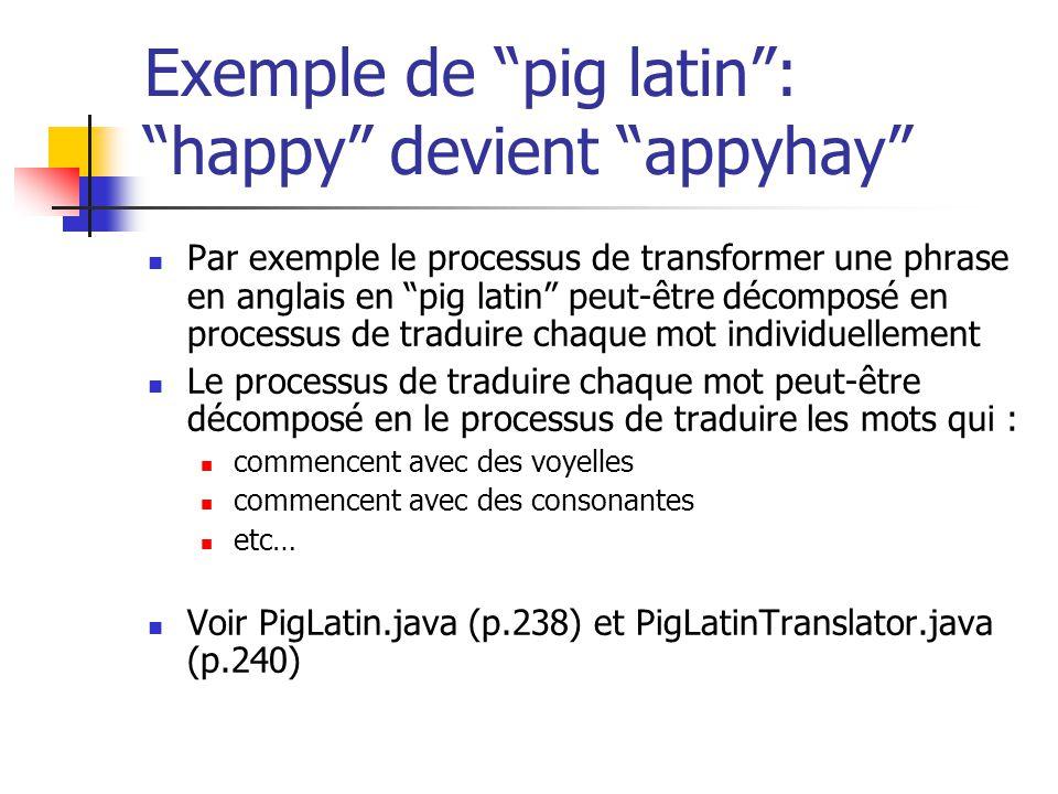 Exemple de pig latin : happy devient appyhay