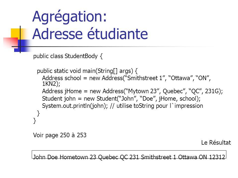 Agrégation: Adresse étudiante