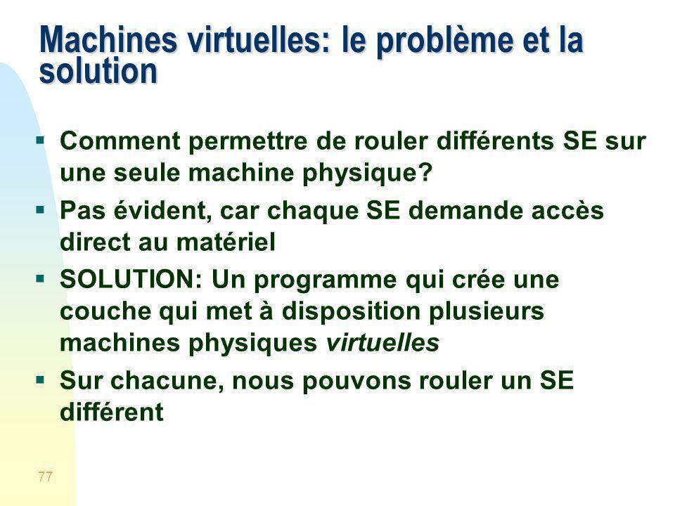 Machines virtuelles: le problème et la solution