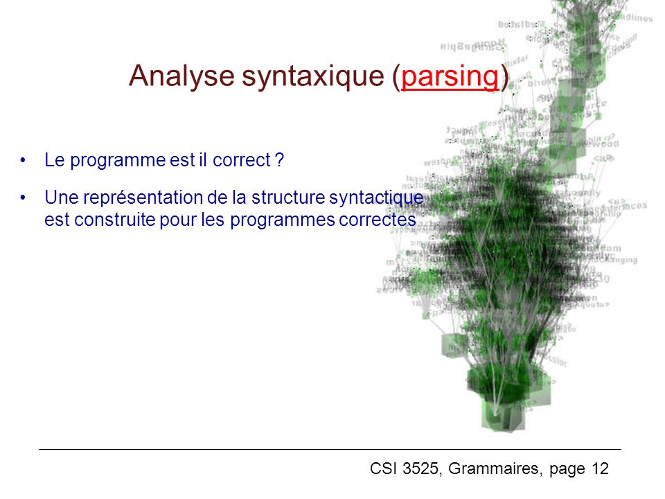 Analyse syntaxique (parsing)