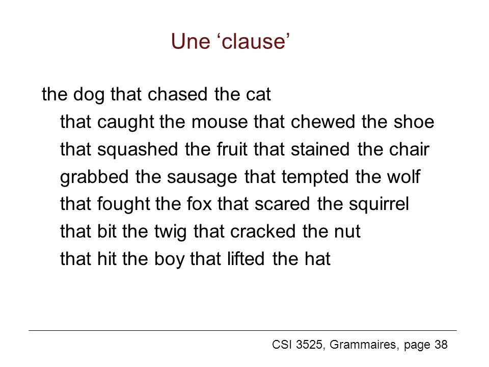 Une 'clause'
