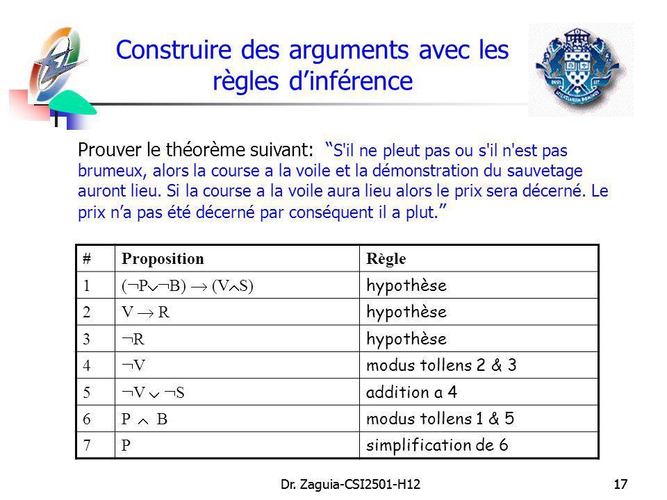 Construire des arguments avec les règles d'inférence