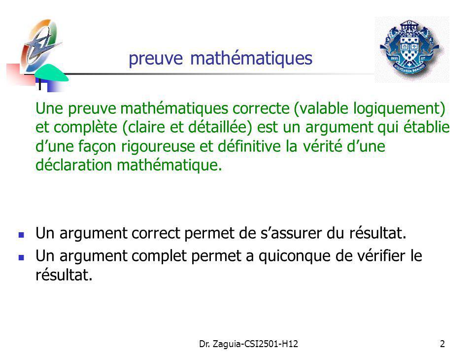 preuve mathématiques
