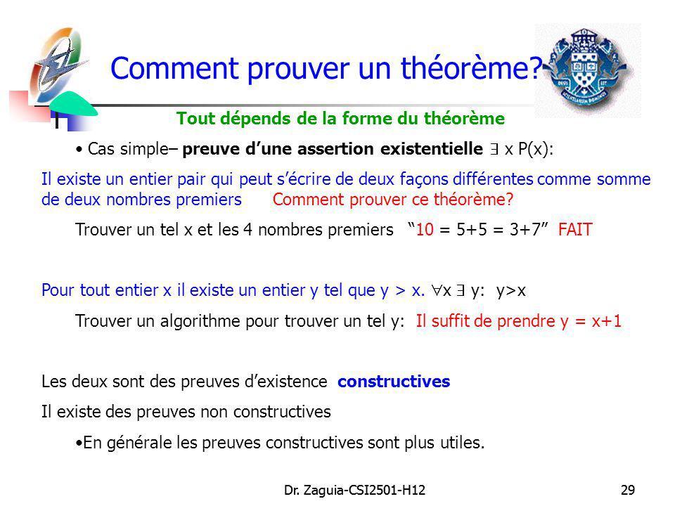 Comment prouver un théorème