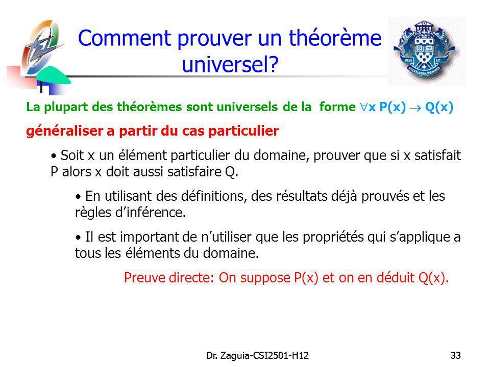 Comment prouver un théorème universel