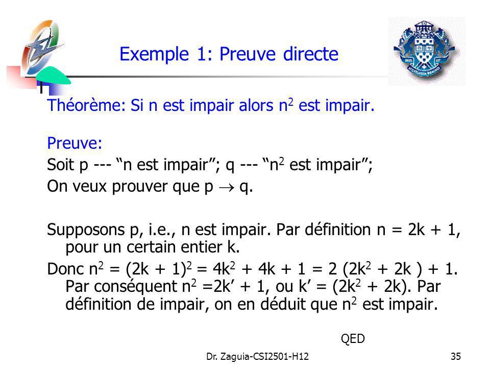 Exemple 1: Preuve directe