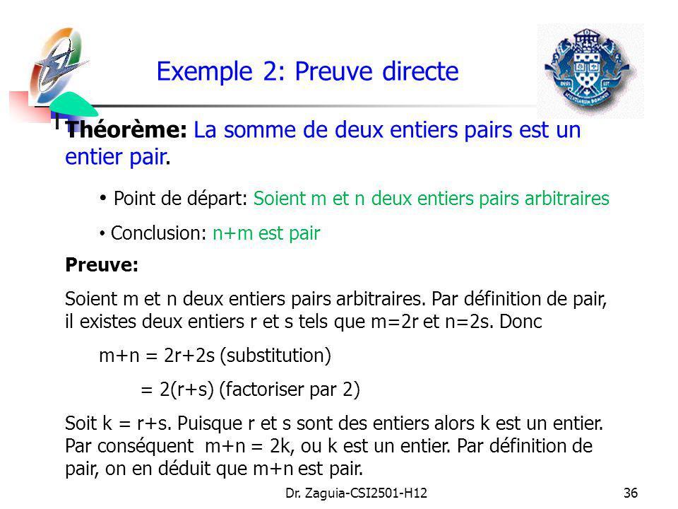 Exemple 2: Preuve directe