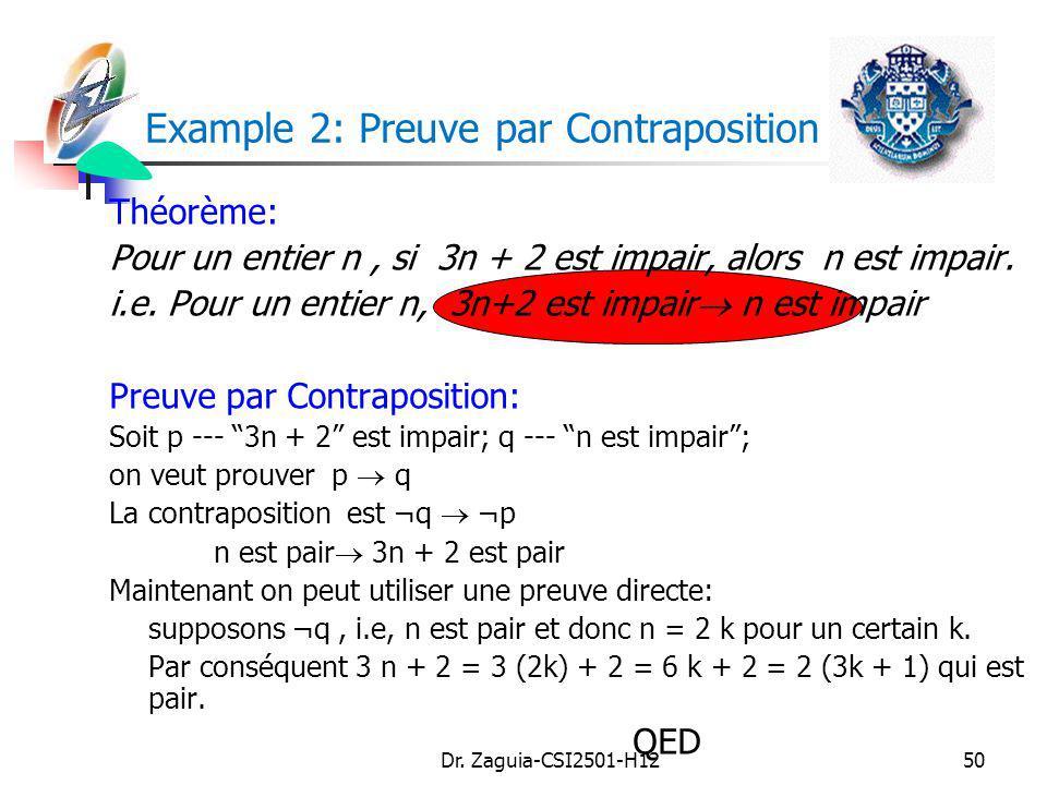 Example 2: Preuve par Contraposition