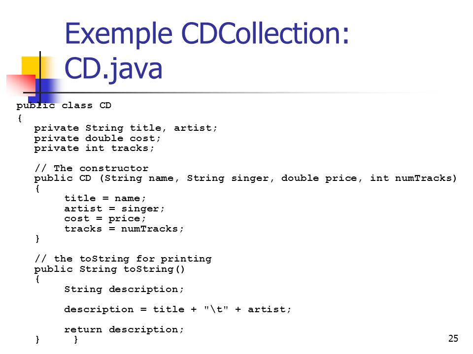 Exemple CDCollection: CD.java