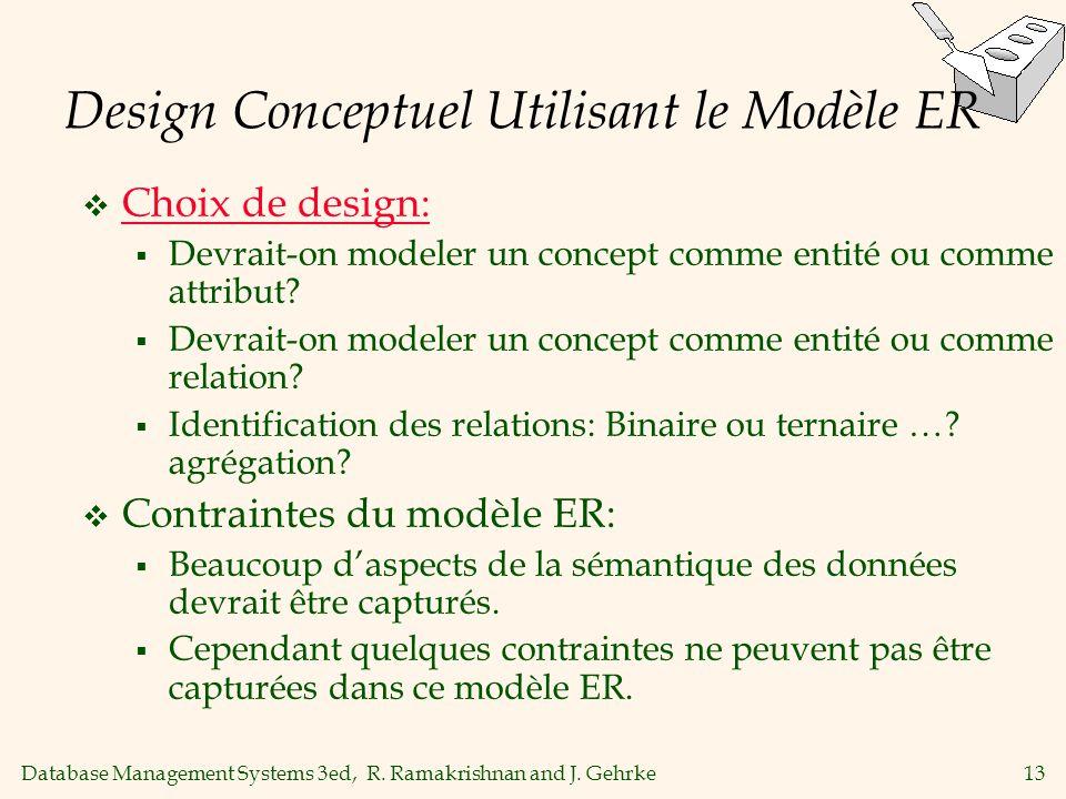 Design Conceptuel Utilisant le Modèle ER