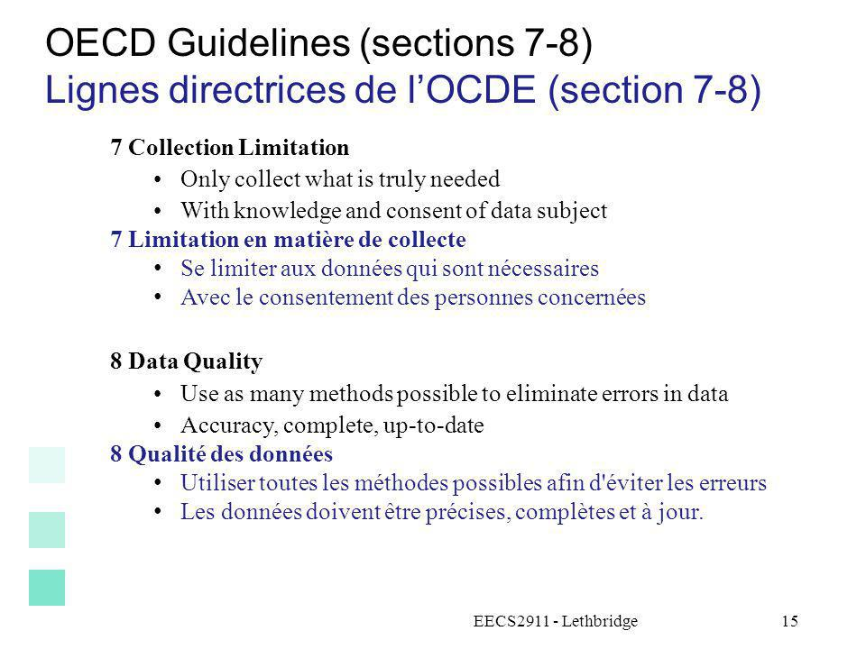 OECD Guidelines (sections 7-8)