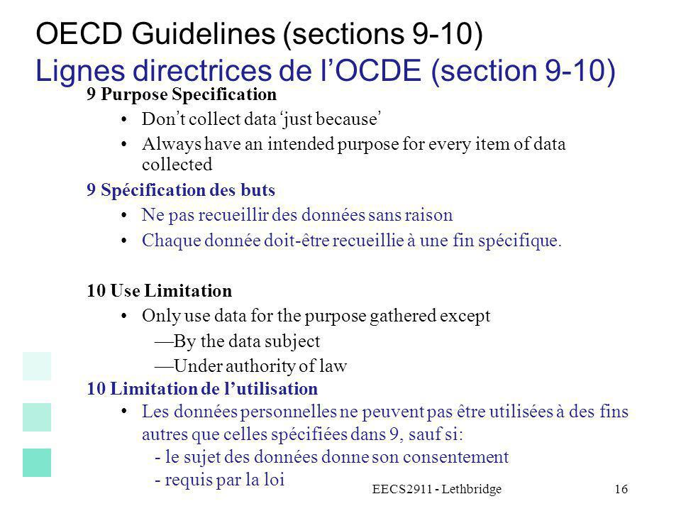 OECD Guidelines (sections 9-10)