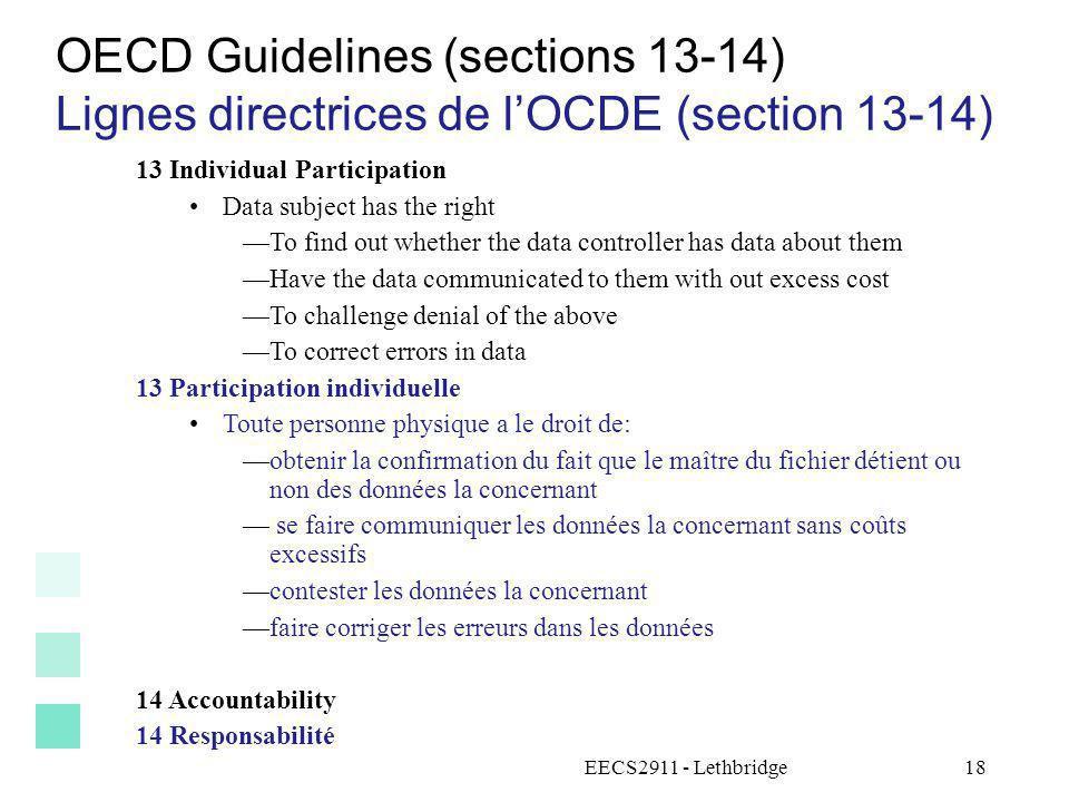 OECD Guidelines (sections 13-14)