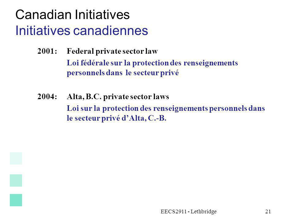 Initiatives canadiennes