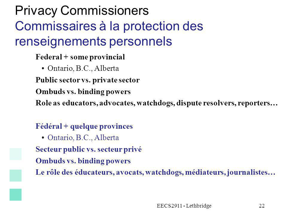 Privacy Commissioners