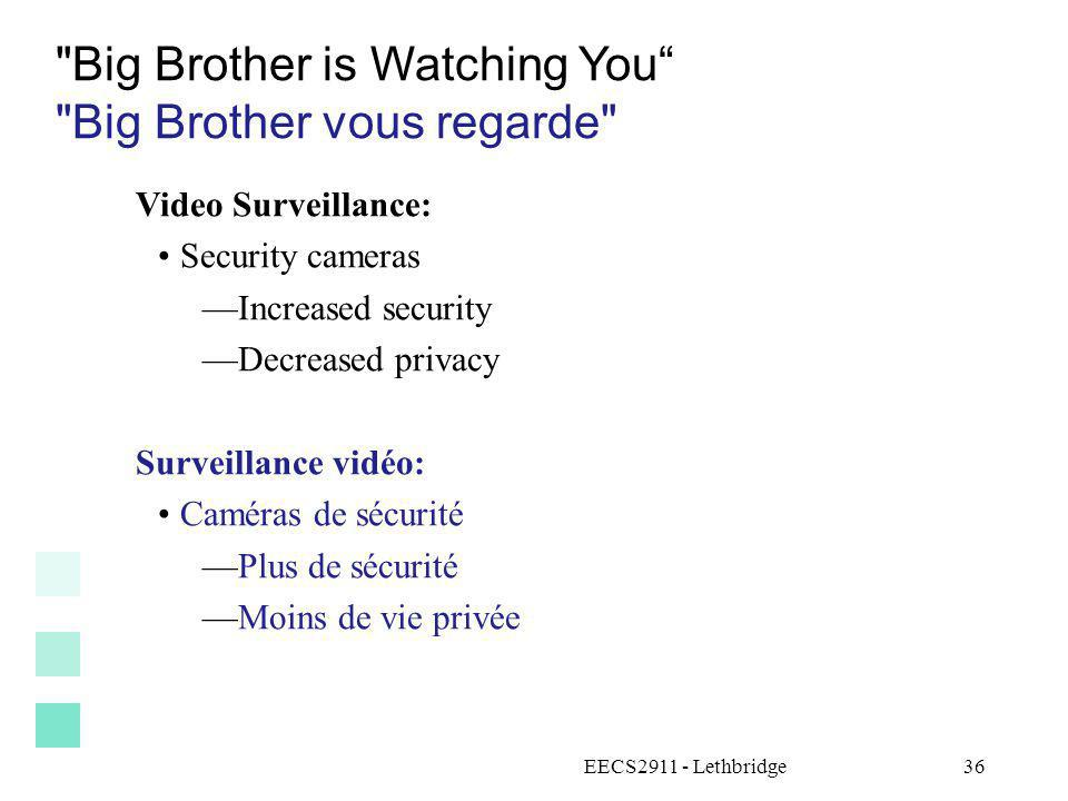 Big Brother is Watching You Big Brother vous regarde