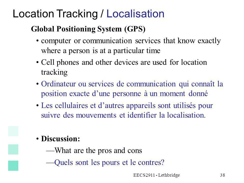 Location Tracking / Localisation