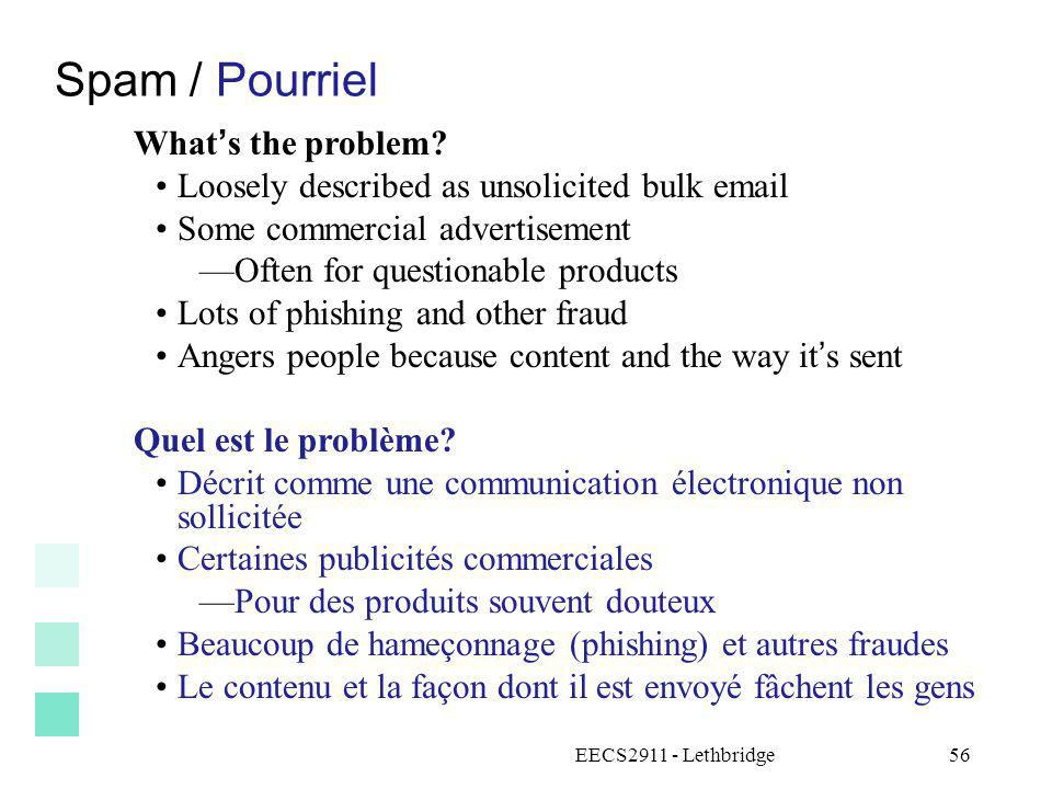 Spam / Pourriel What's the problem