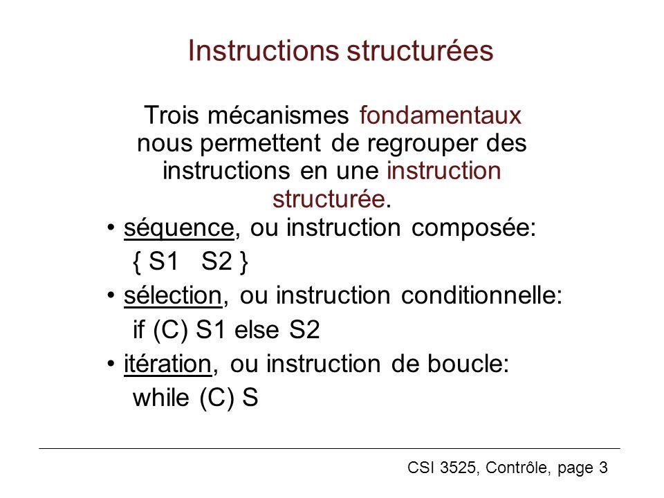 Instructions structurées