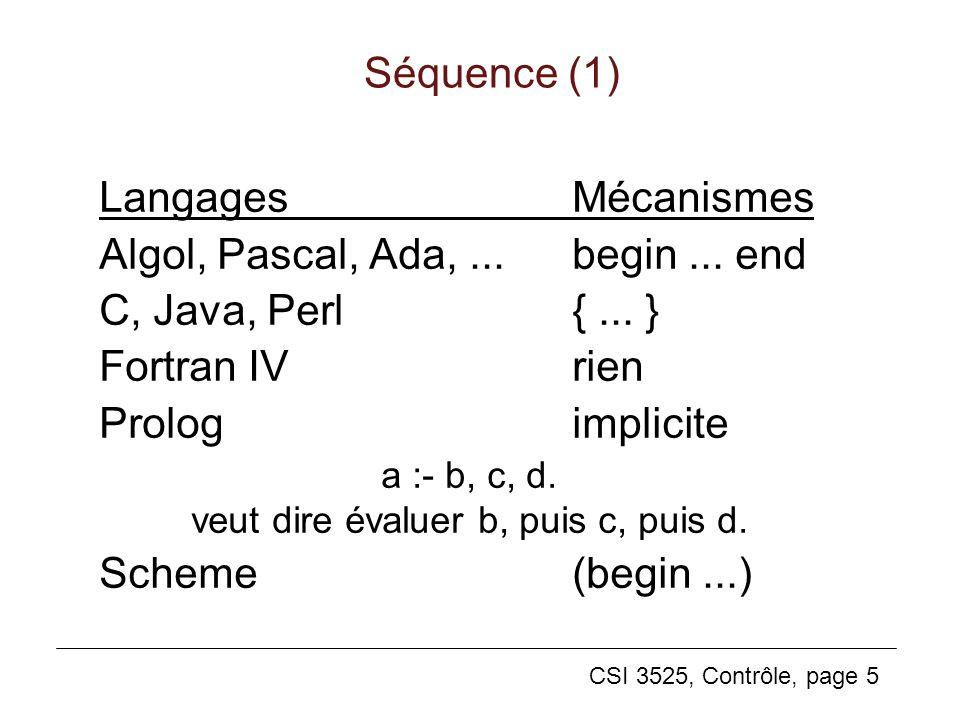 a :- b, c, d. veut dire évaluer b, puis c, puis d.