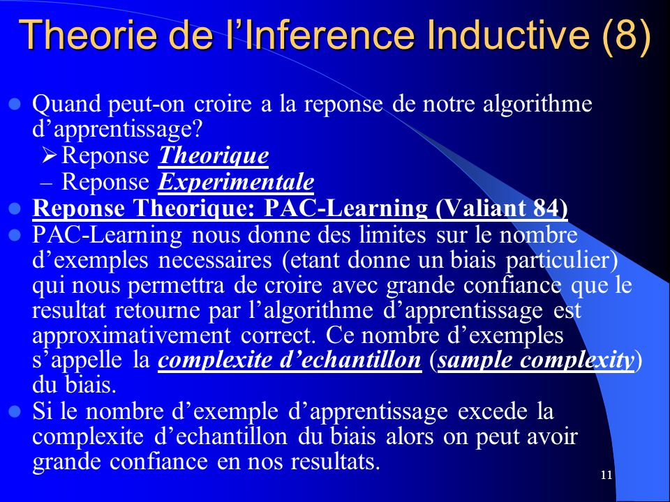 Theorie de l'Inference Inductive (8)