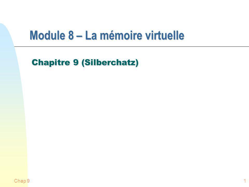 Module 8 – La mémoire virtuelle