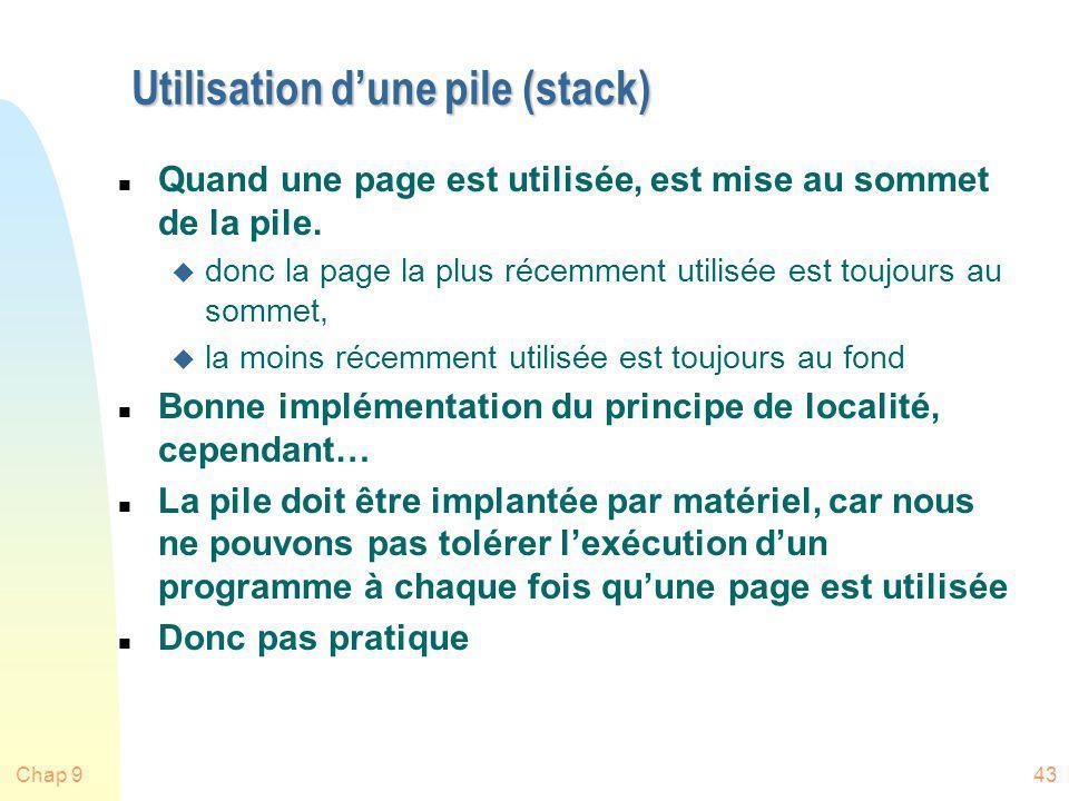 Utilisation d'une pile (stack)