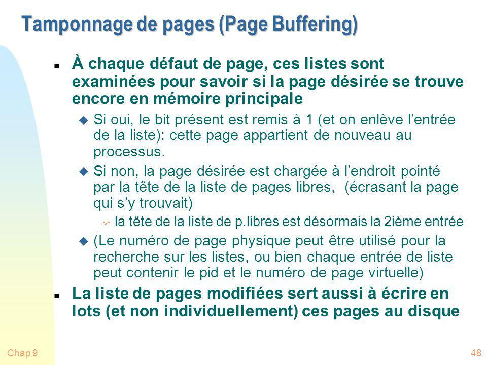 Tamponnage de pages (Page Buffering)