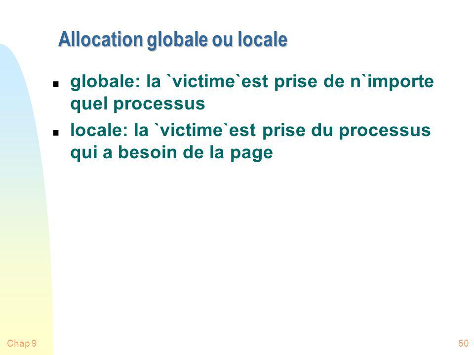 Allocation globale ou locale