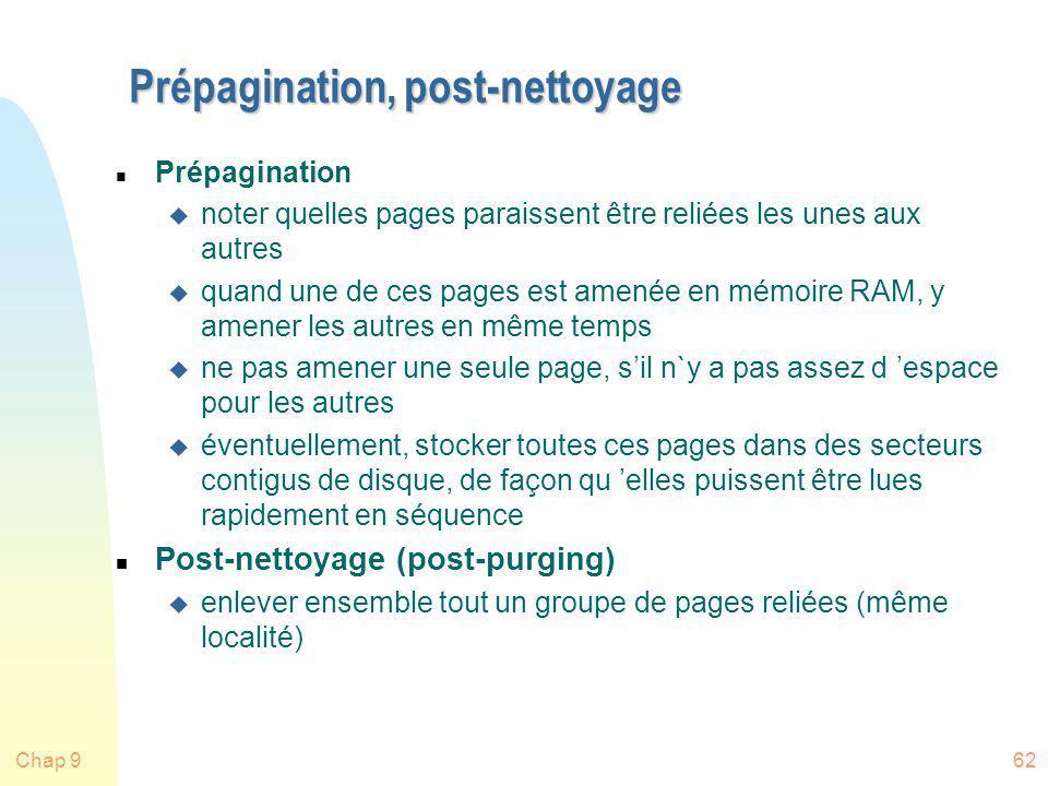 Prépagination, post-nettoyage