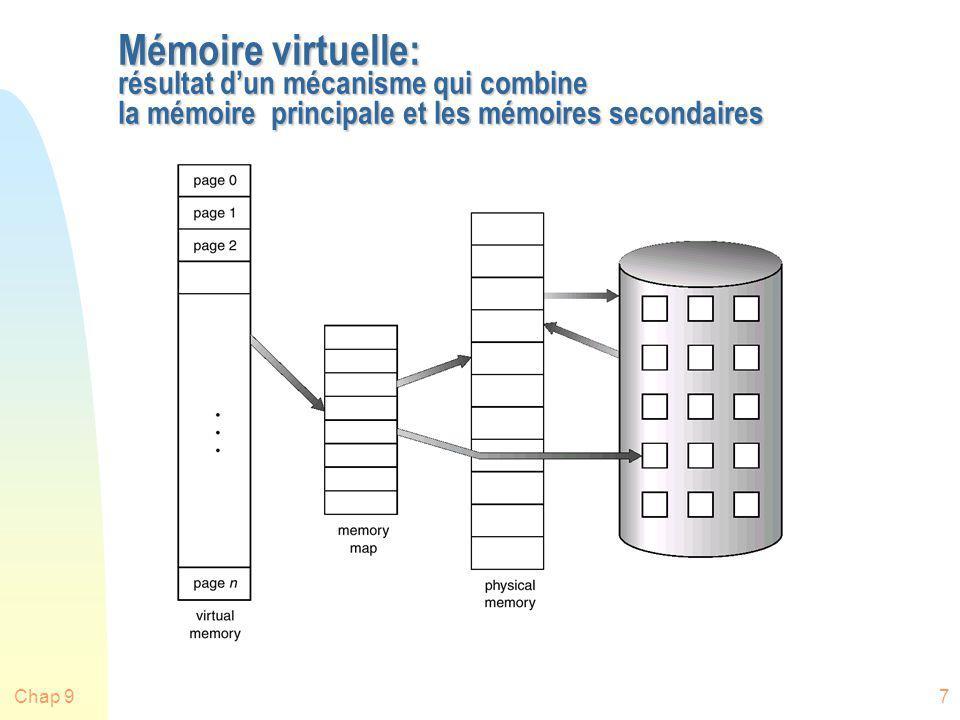 Mémoire virtuelle: résultat d'un mécanisme qui combine