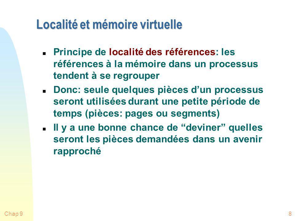 Localité et mémoire virtuelle