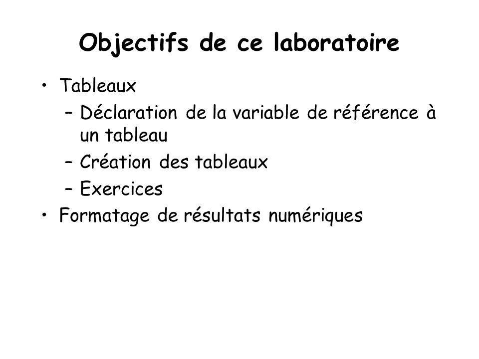 Objectifs de ce laboratoire