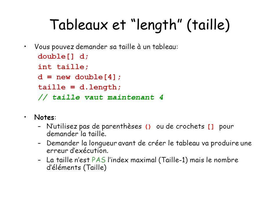Tableaux et length (taille)