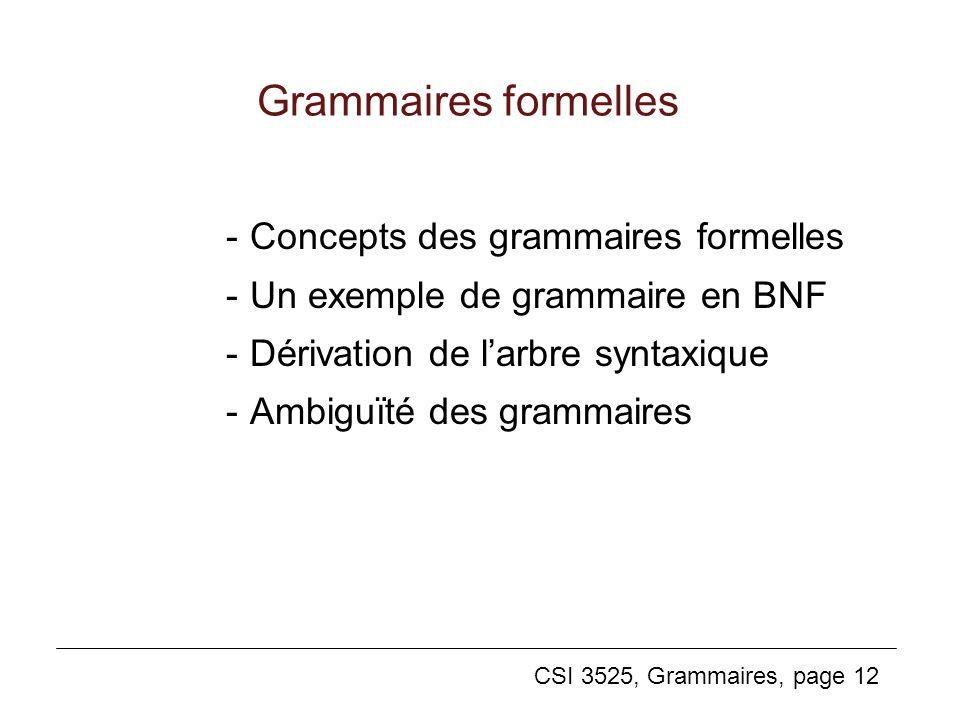Grammaires formelles - Concepts des grammaires formelles