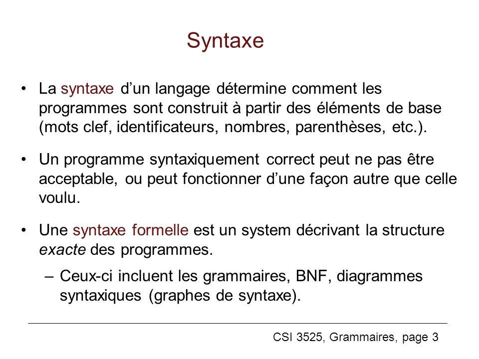 Syntaxe