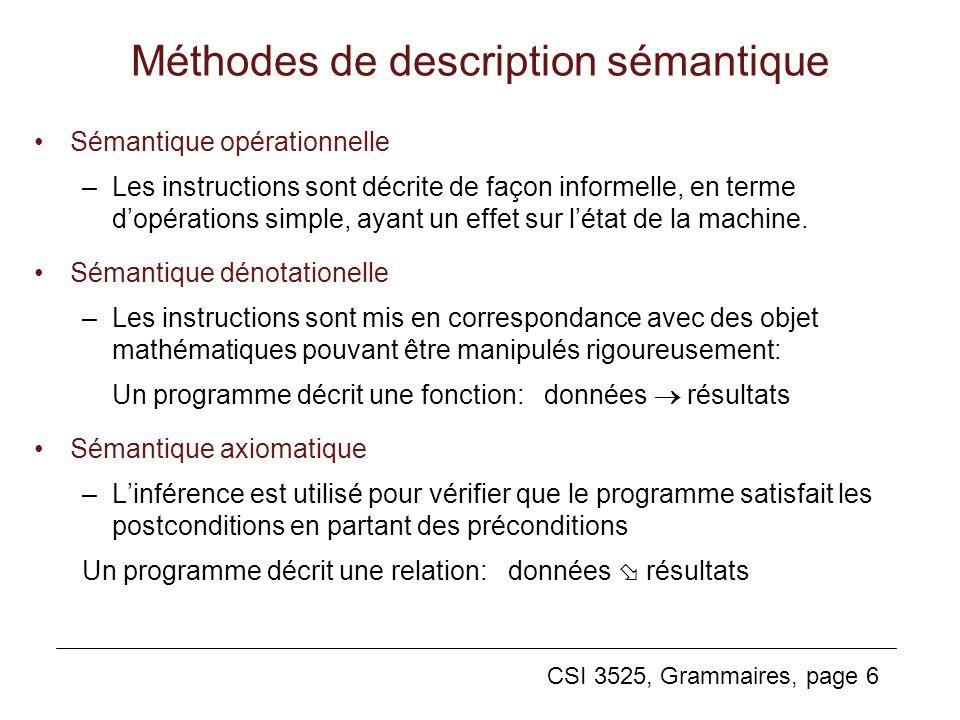 Méthodes de description sémantique