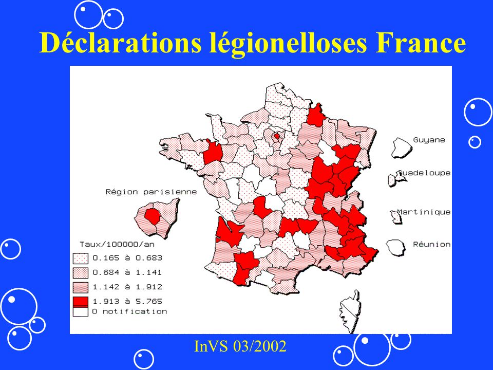 Déclarations légionelloses France