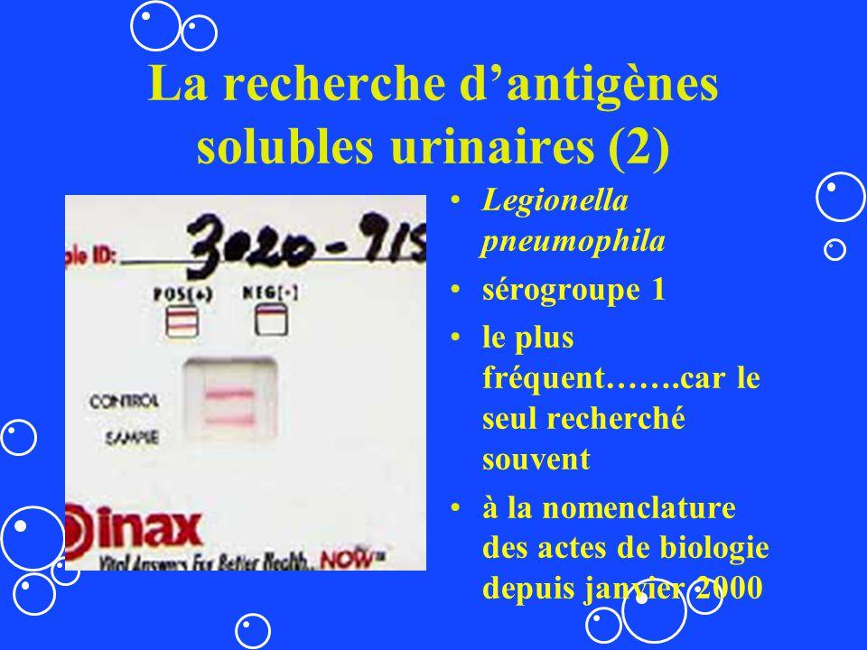 La recherche d'antigènes solubles urinaires (2)