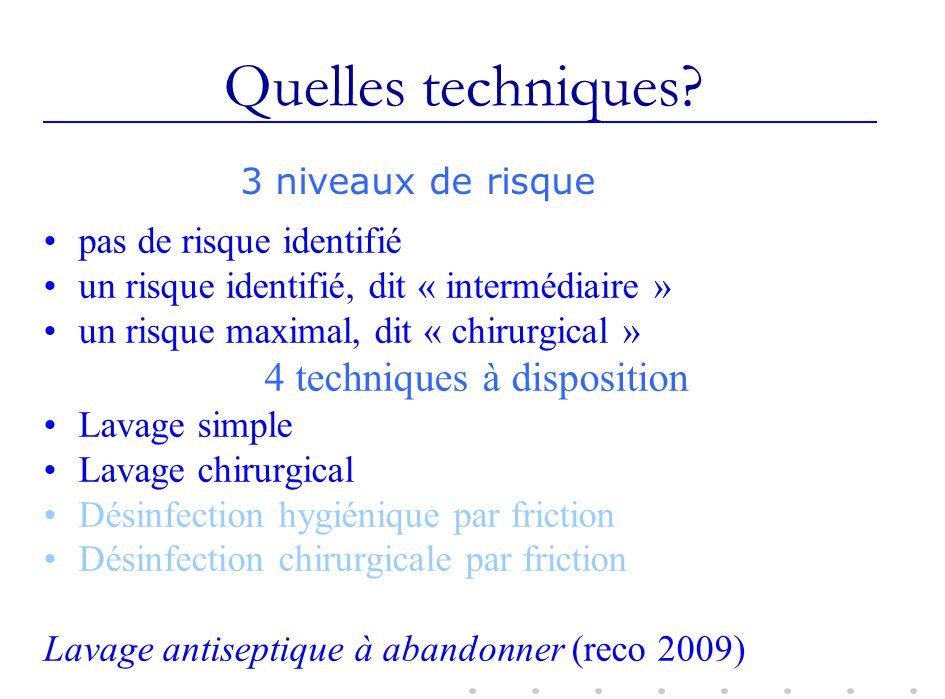 4 techniques à disposition