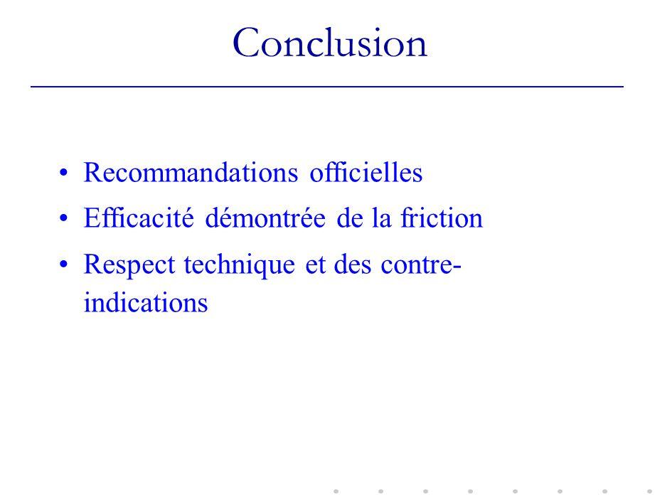 Conclusion Recommandations officielles