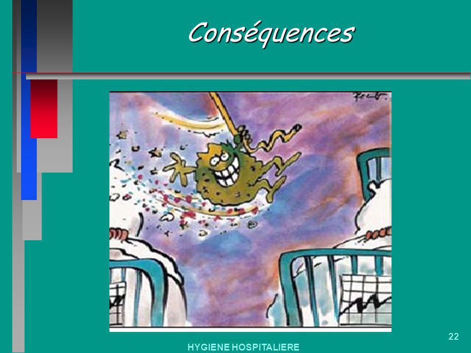 Conséquences HYGIENE HOSPITALIERE