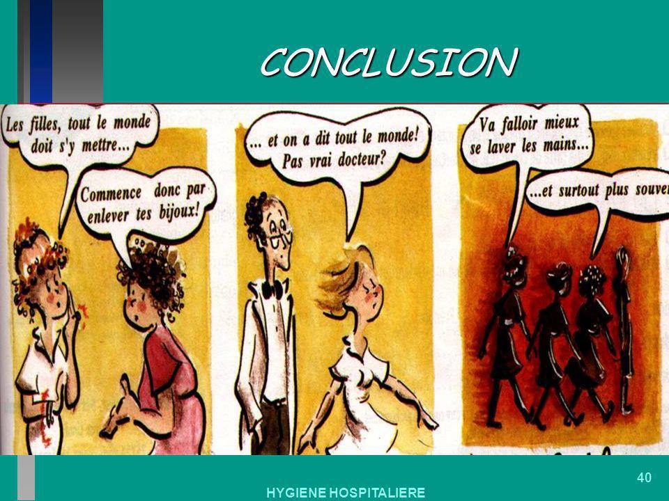 CONCLUSION HYGIENE HOSPITALIERE